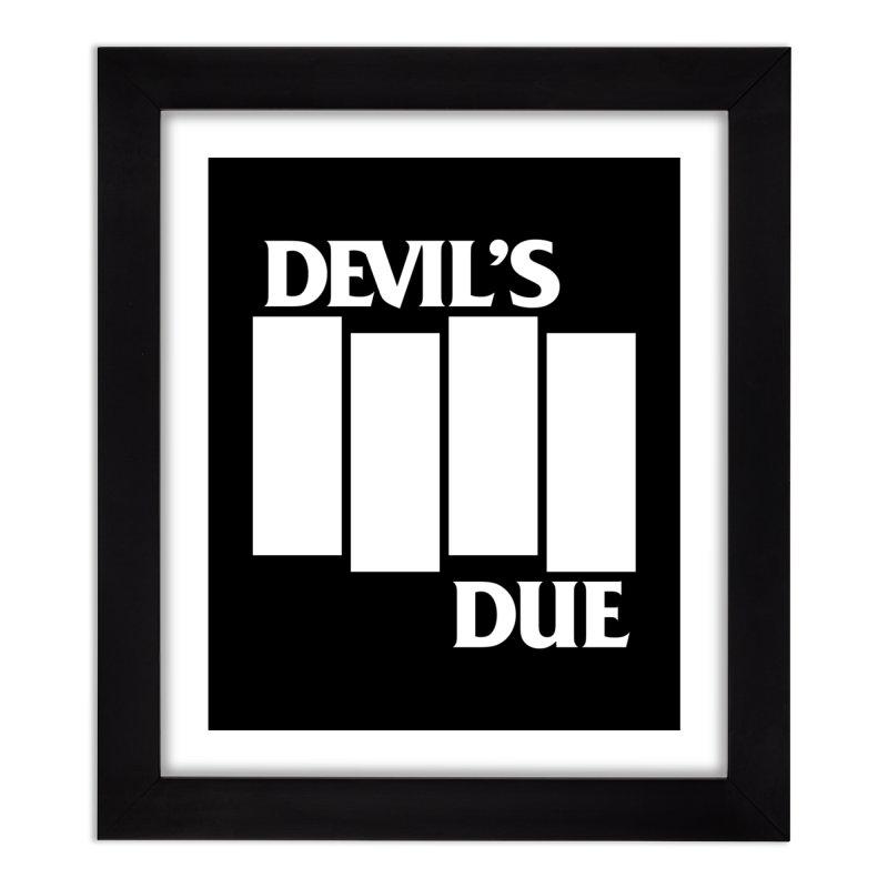 Devil's Due Flag Home Framed Fine Art Print by Devil's Due Comics