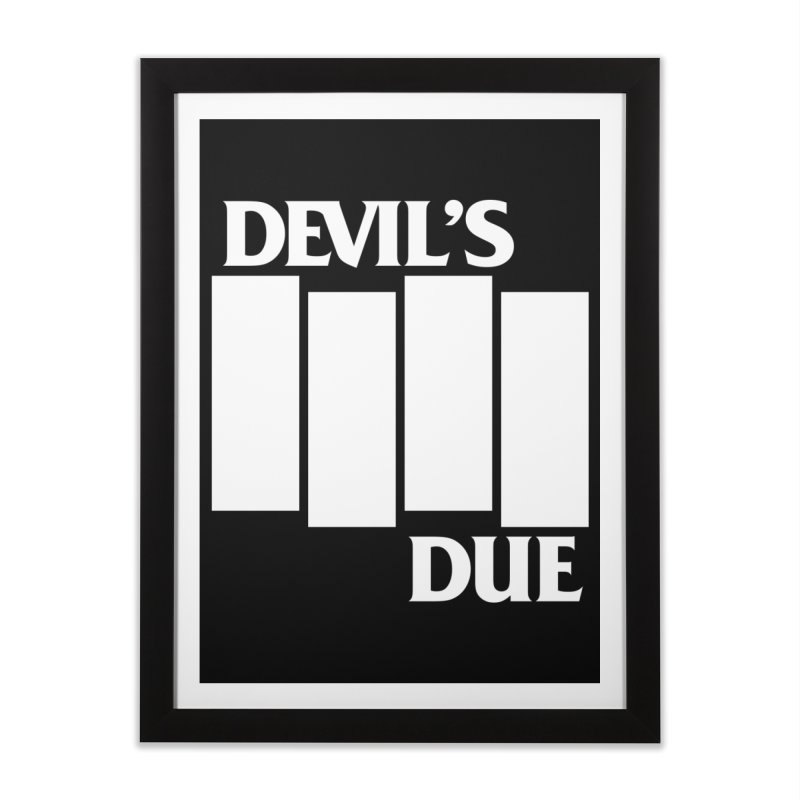 Devil's Due Flag Home Framed Fine Art Print by Devil's Due Comics