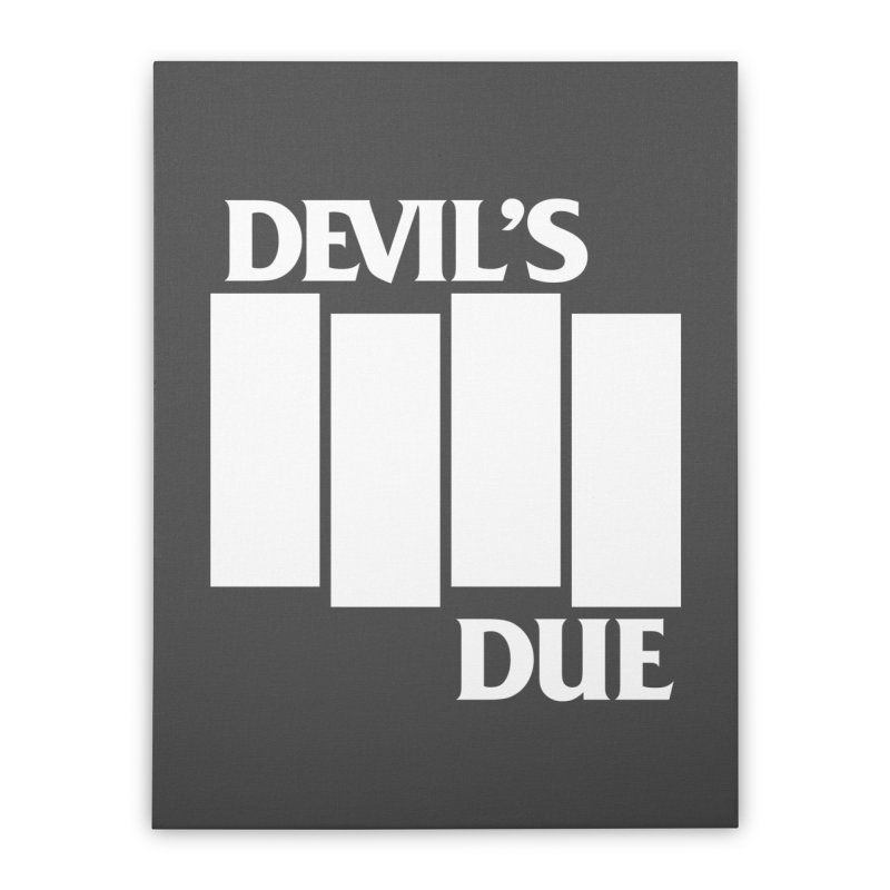 Devil's Due Flag Home Stretched Canvas by Devil's Due Entertainment Depot