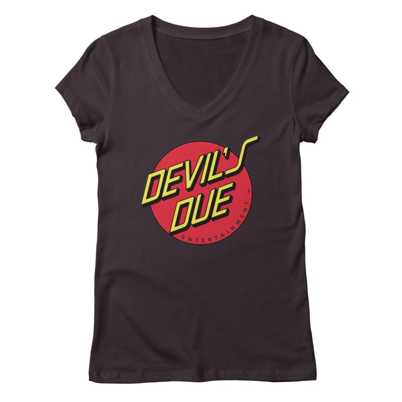 Devil's Due Cruz Women's Regular V-Neck by Devil's Due Comics