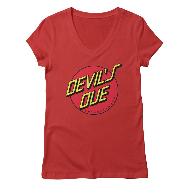 Devil's Due Cruz Women's Regular V-Neck by Devil's Due Entertainment Depot