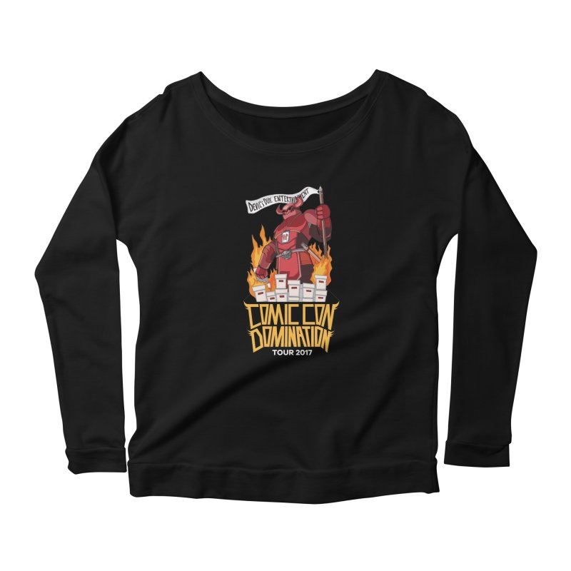 Condom 2017  Women's Scoop Neck Longsleeve T-Shirt by Devil's Due Comics