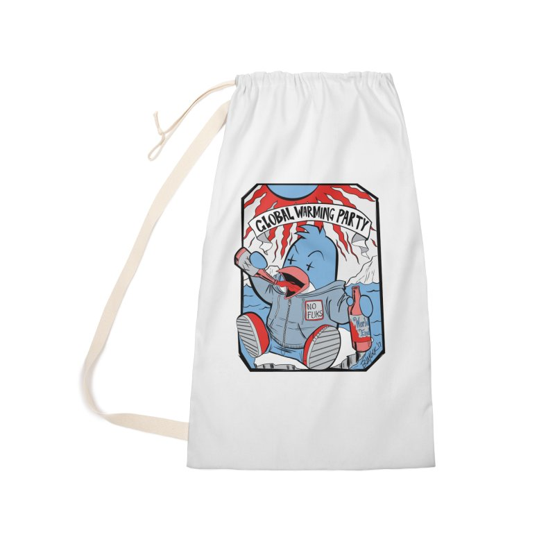 Global Warming Party Accessories Laundry Bag Bag by Devil's Due Comics