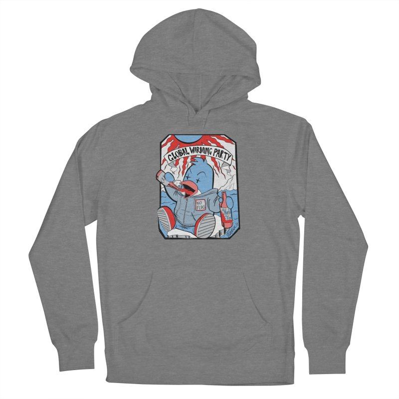 Global Warming Party Men's French Terry Pullover Hoody by Devil's Due Comics