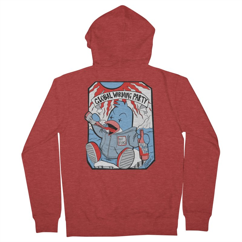 Global Warming Party Men's French Terry Zip-Up Hoody by Devil's Due Comics
