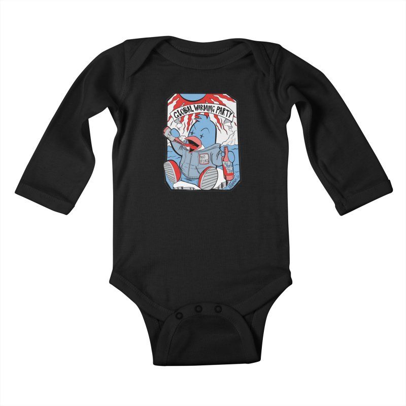 Global Warming Party Kids Baby Longsleeve Bodysuit by Devil's Due Entertainment Depot