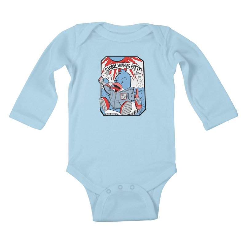 Global Warming Party Kids Baby Longsleeve Bodysuit by Devil's Due Comics