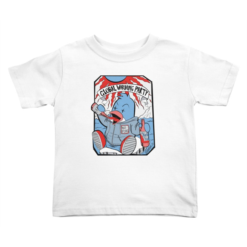 Global Warming Party Kids Toddler T-Shirt by Devil's Due Comics