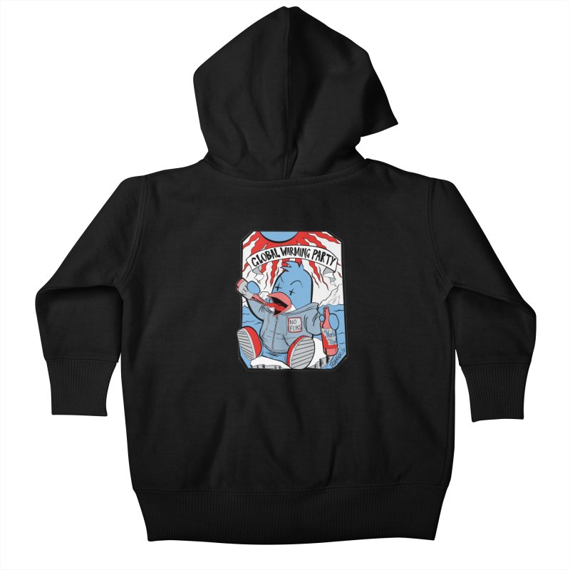 Global Warming Party Kids Baby Zip-Up Hoody by Devil's Due Comics