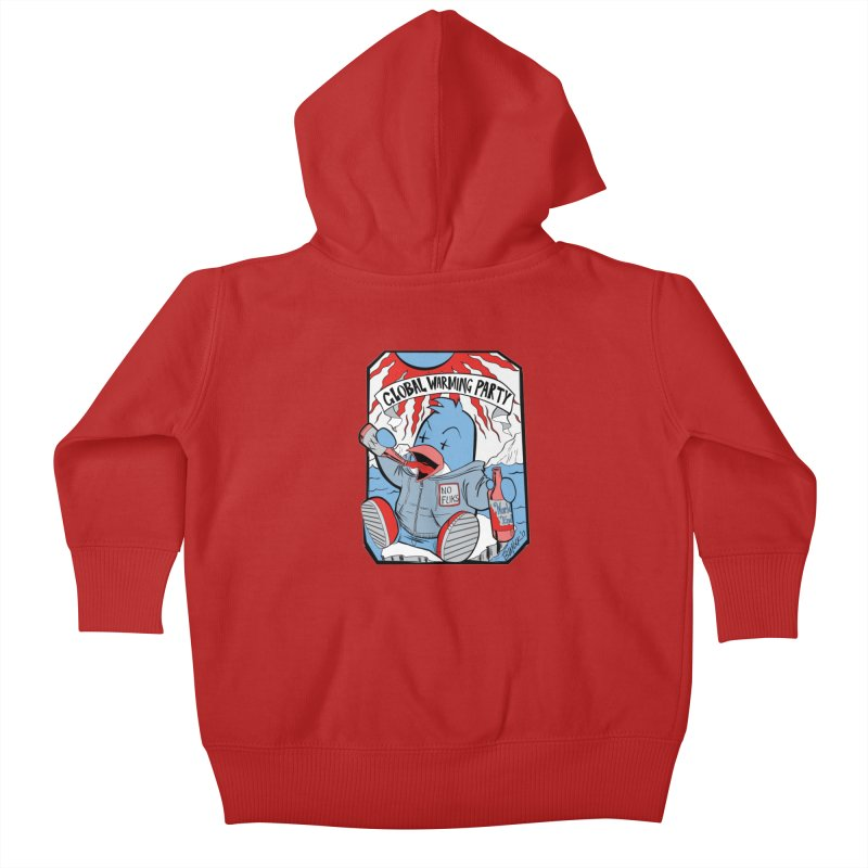 Global Warming Party Kids Baby Zip-Up Hoody by Devil's Due Entertainment Depot
