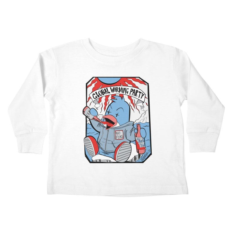 Global Warming Party Kids Toddler Longsleeve T-Shirt by Devil's Due Entertainment Depot