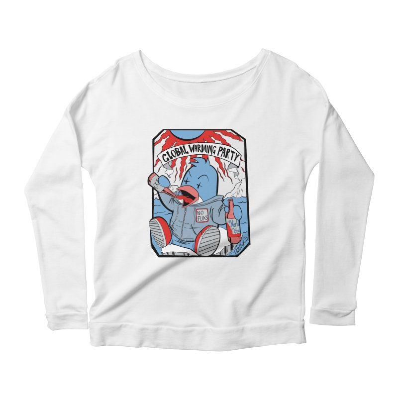 Global Warming Party Women's Scoop Neck Longsleeve T-Shirt by Devil's Due Comics
