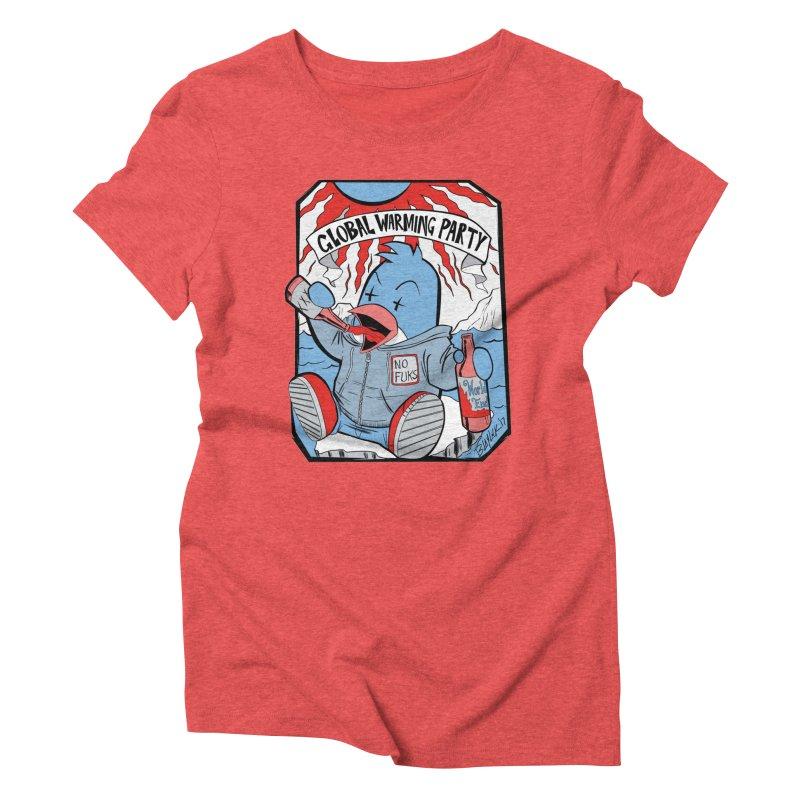 Global Warming Party Women's Triblend T-Shirt by Devil's Due Comics