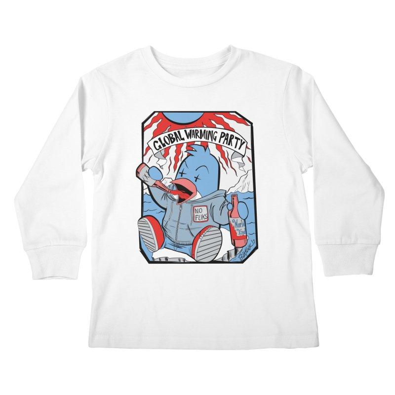 Global Warming Party Kids Longsleeve T-Shirt by Devil's Due Comics
