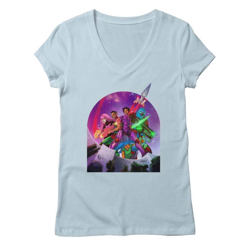 Galaxys for Hire Women's V-Neck by Devil's Due Comics