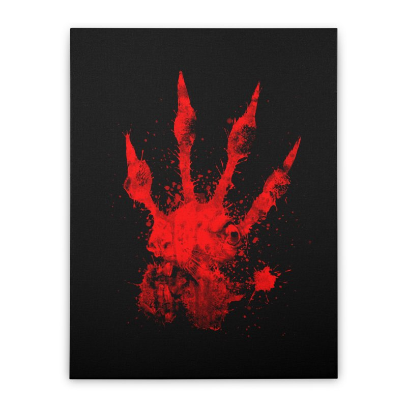 Squarriors' Bloody Print Home Stretched Canvas by Devil's Due Comics