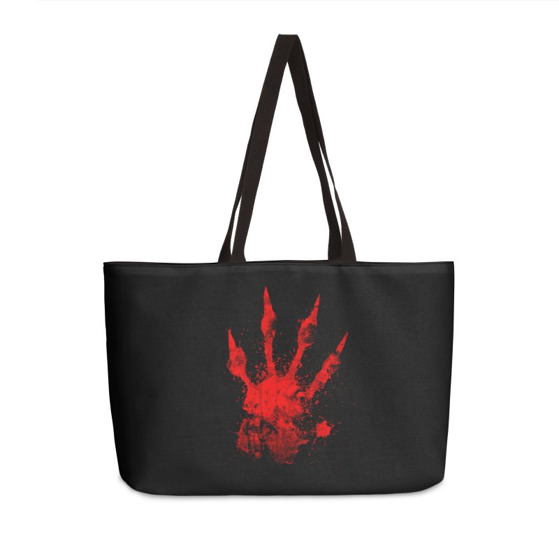 Squarriors' Bloody Print Accessories Weekender Bag Bag by Devil's Due Comics