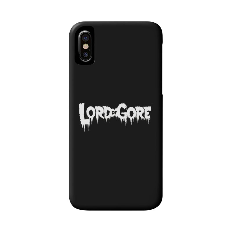 Lord of Gore Logo Accessories Phone Case by Devil's Due Entertainment Depot