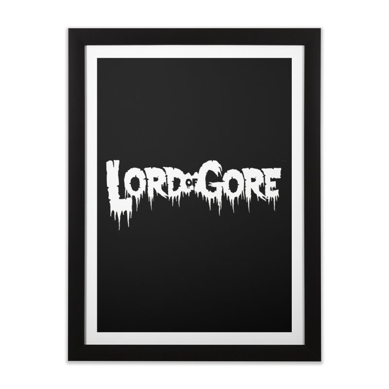 Lord of Gore Logo Home Framed Fine Art Print by Devil's Due Comics