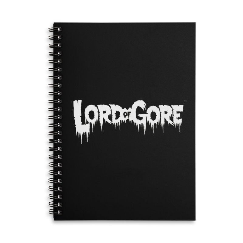 Lord of Gore Logo Accessories Lined Spiral Notebook by Devil's Due Comics