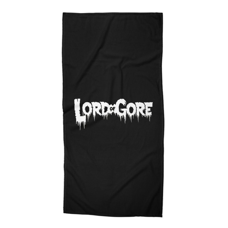 Lord of Gore Logo Accessories Beach Towel by Devil's Due Comics