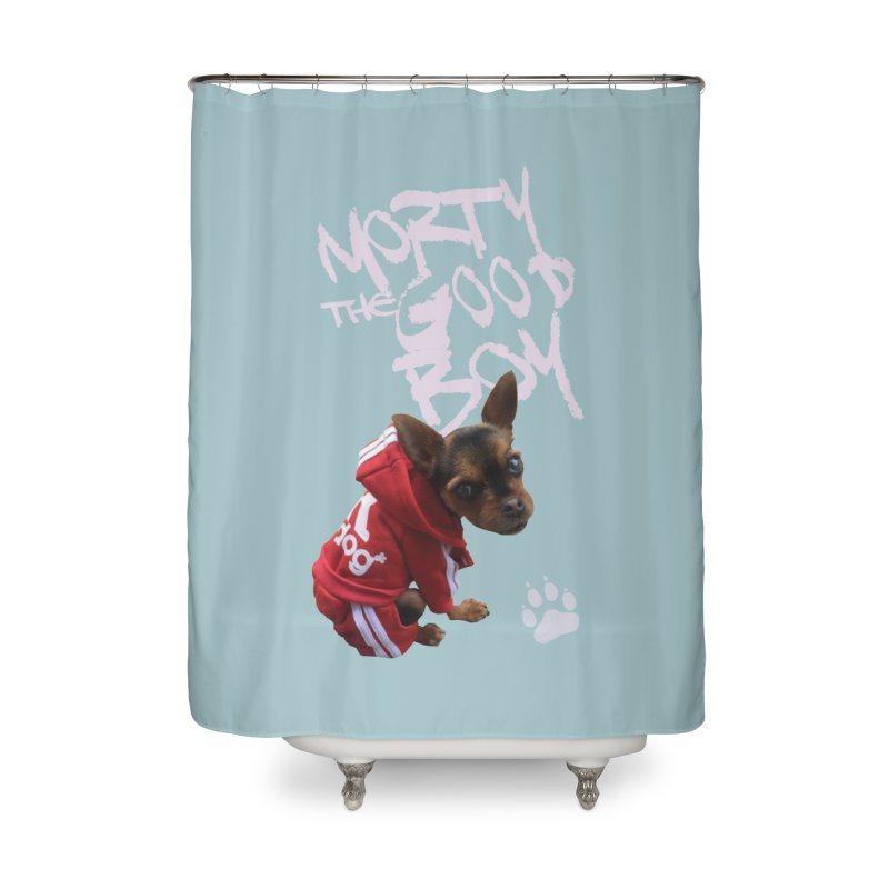 Morty the Good Boy Home Shower Curtain by Devil's Due Comics