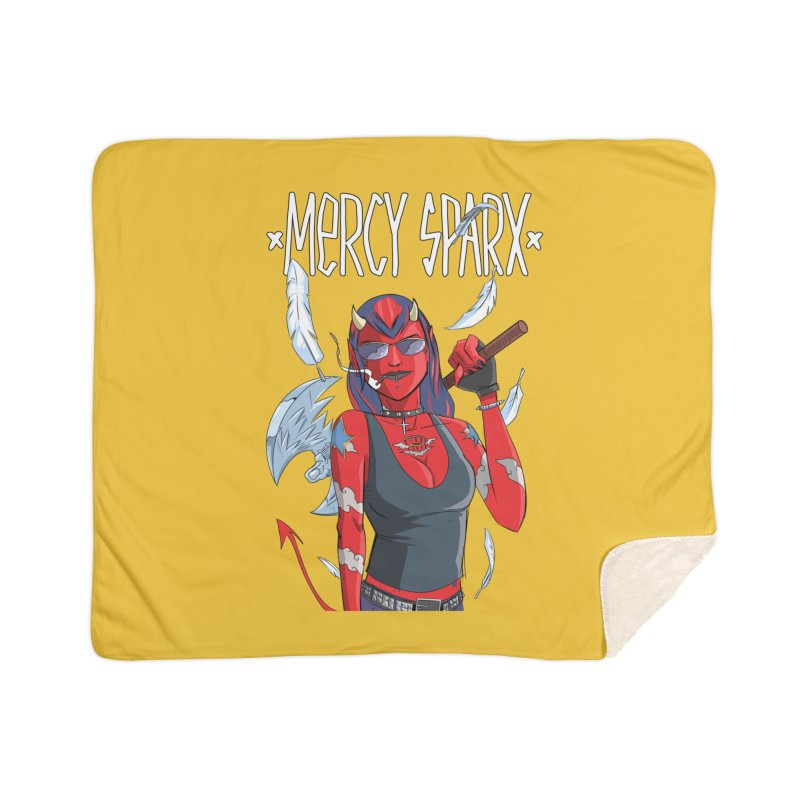 Mercy Sparx - Axe Me Anything Home Sherpa Blanket Blanket by Devil's Due Comics