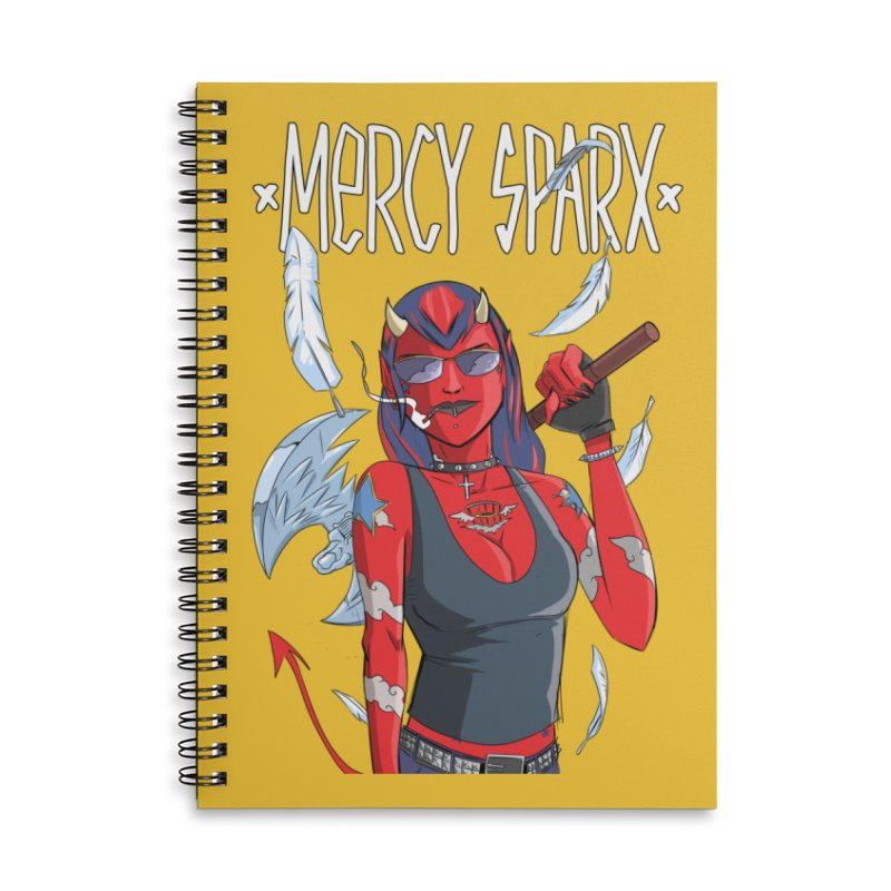Mercy Sparx - Axe Me Anything Accessories Lined Spiral Notebook by Devil's Due Comics