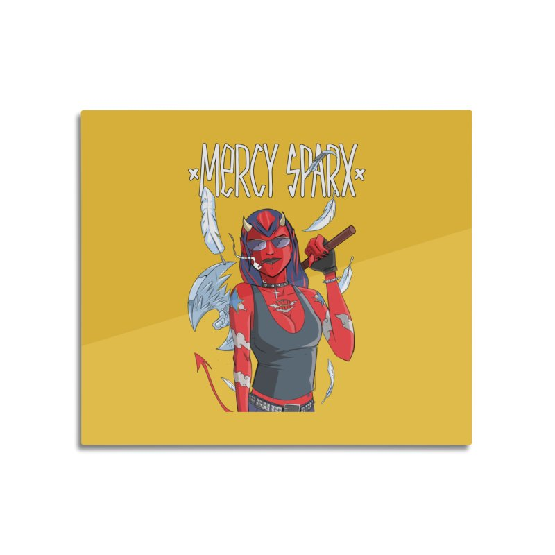 Mercy Sparx - Axe Me Anything Home Mounted Acrylic Print by Devil's Due Comics