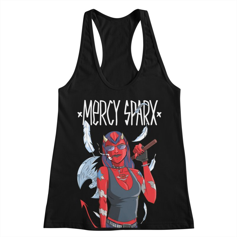 Mercy Sparx - Axe Me Anything Women's Racerback Tank by Devil's Due Comics
