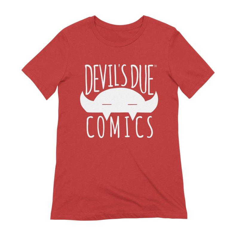 Devil's Due Logo Women's Extra Soft T-Shirt by Devil's Due Comics