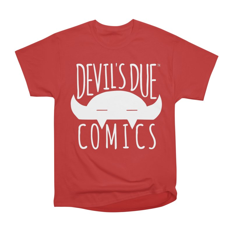 Devil's Due Logo Men's Heavyweight T-Shirt by Devil's Due Comics