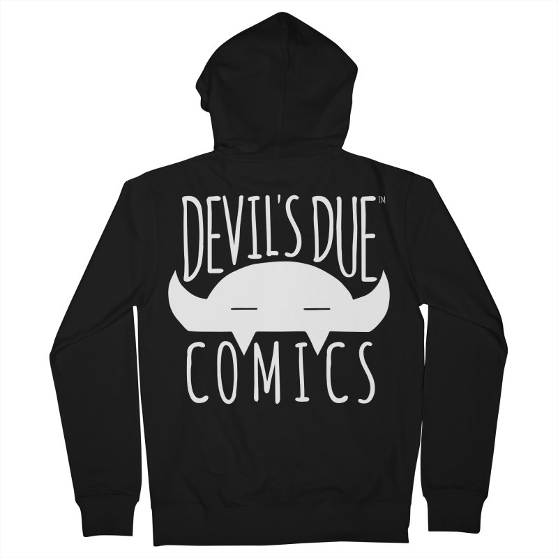 Devil's Due Logo Women's French Terry Zip-Up Hoody by Devil's Due Comics