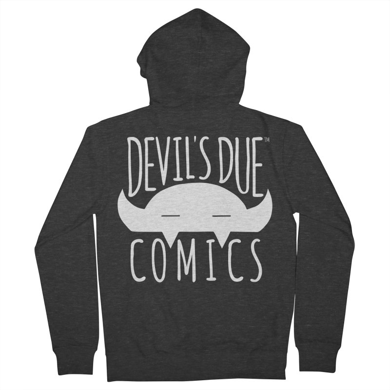 Devil's Due Logo Men's French Terry Zip-Up Hoody by Devil's Due Comics