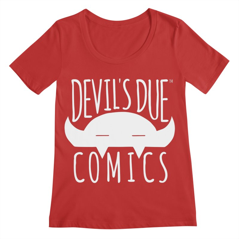 Devil's Due Logo Women's Regular Scoop Neck by Devil's Due Comics