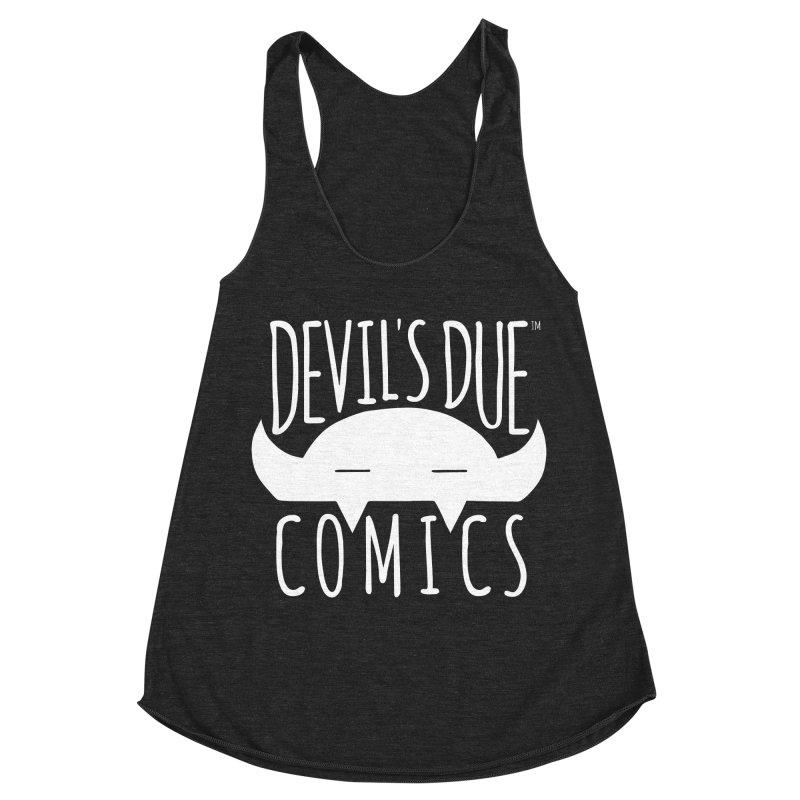 Devil's Due Logo Women's Racerback Triblend Tank by Devil's Due Comics
