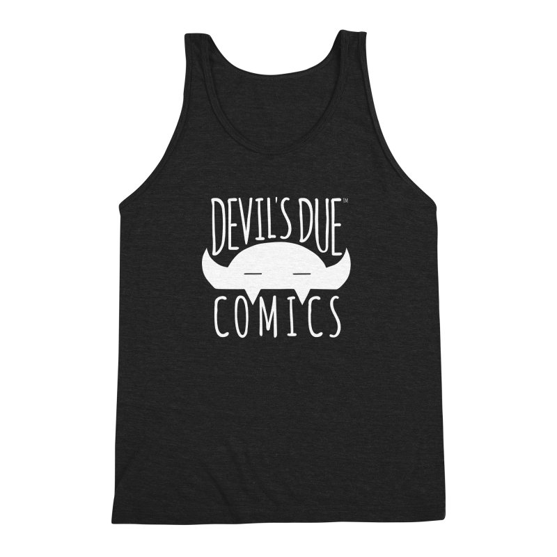 Devil's Due Logo Men's Triblend Tank by Devil's Due Comics