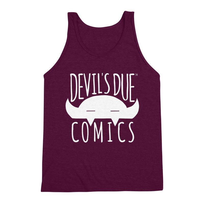 Devil's Due Logo Men's Triblend Tank by Devil's Due Comics