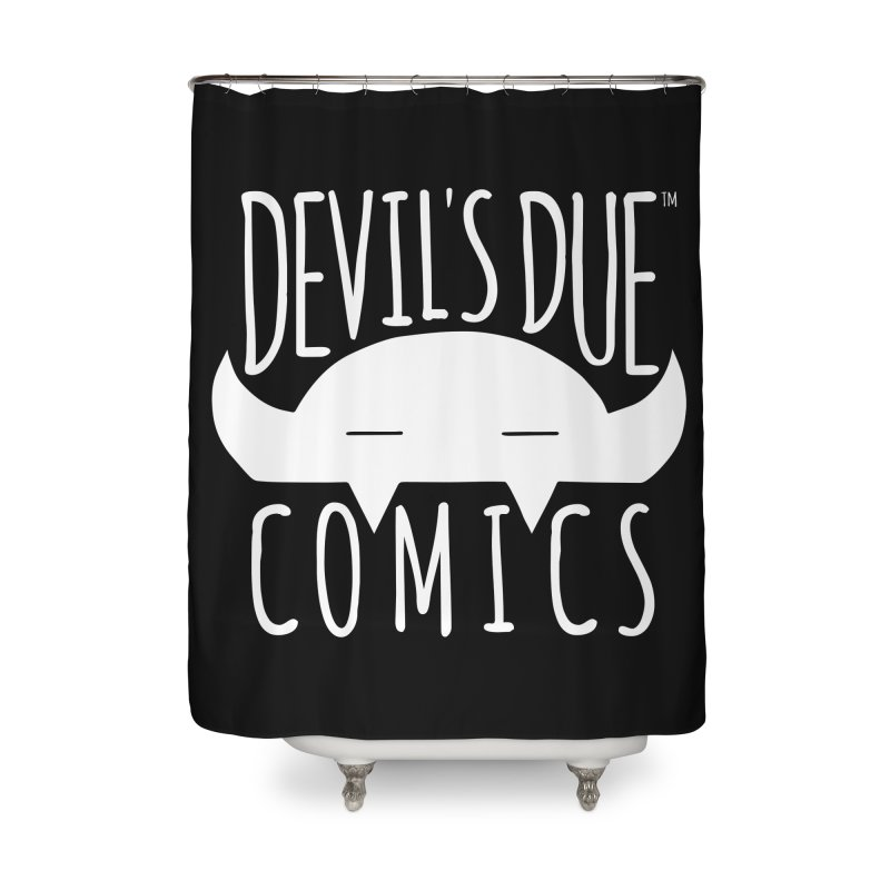 Devil's Due Logo Home Shower Curtain by Devil's Due Comics