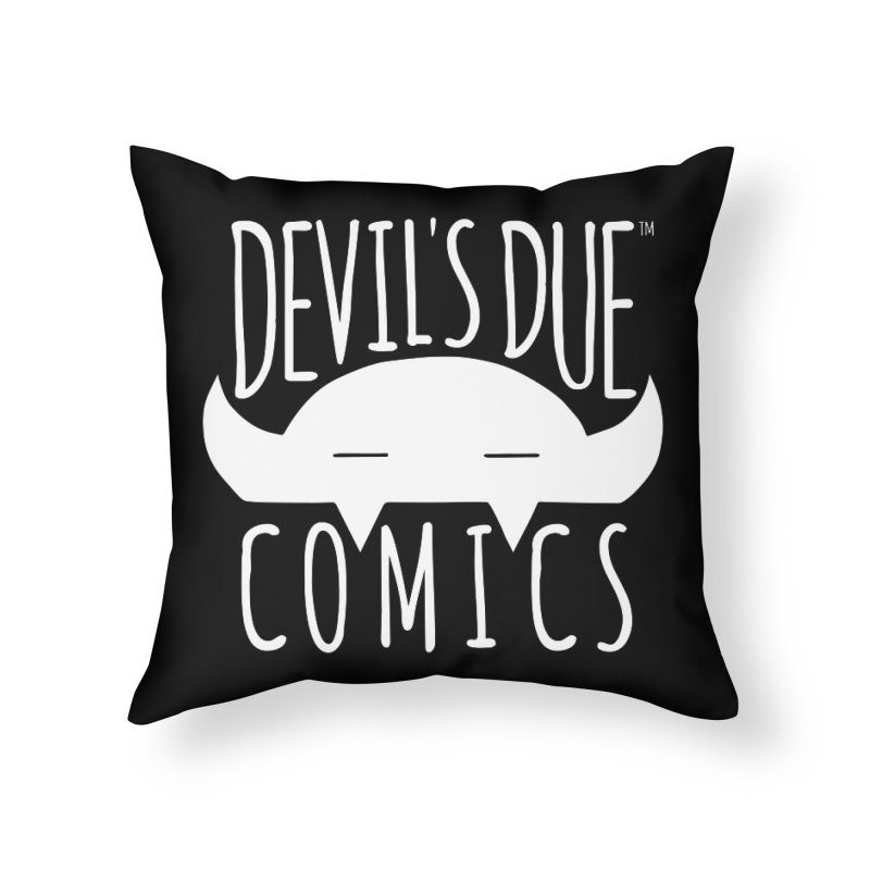 Devil's Due Logo Home Throw Pillow by Devil's Due Comics