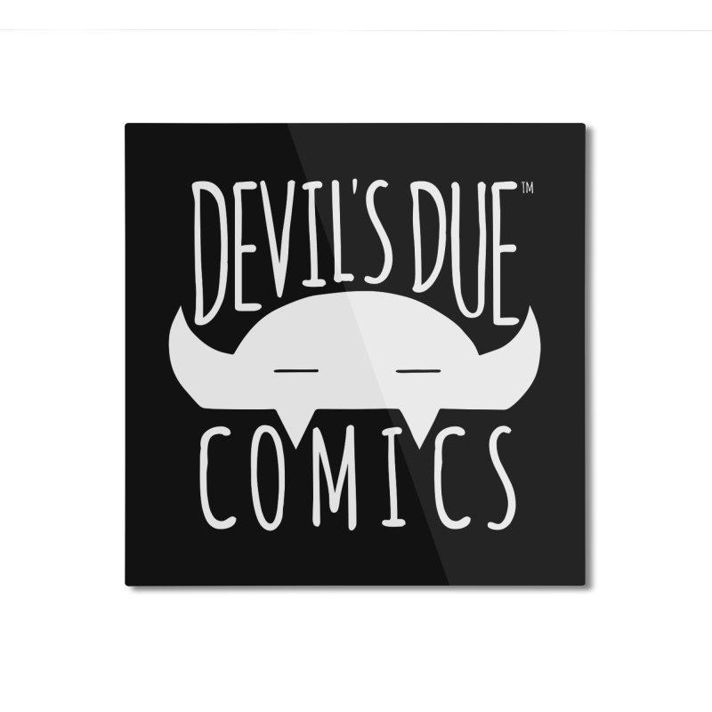 Devil's Due Logo Home Mounted Aluminum Print by Devil's Due Comics