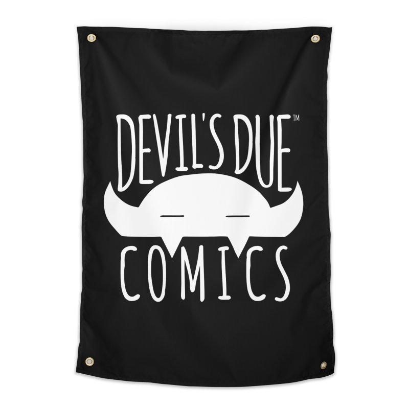 Devil's Due Logo Home Tapestry by Devil's Due Comics