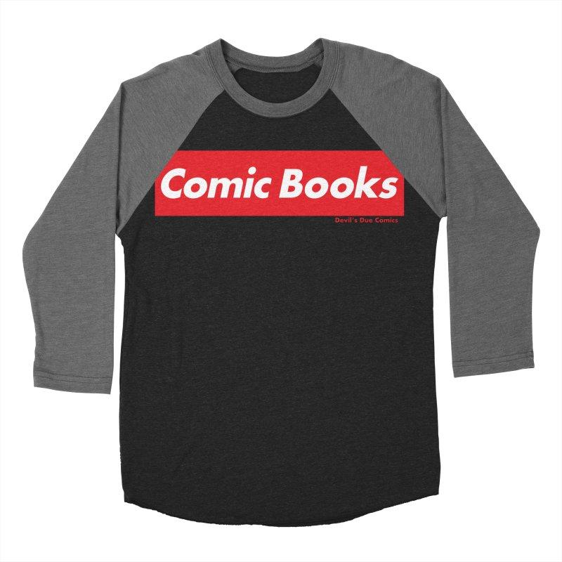 Comics Are Supreme Men's Baseball Triblend Longsleeve T-Shirt by Devil's Due Comics
