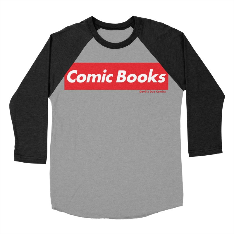 Comics Are Supreme Men's Baseball Triblend Longsleeve T-Shirt by Devil's Due Comics