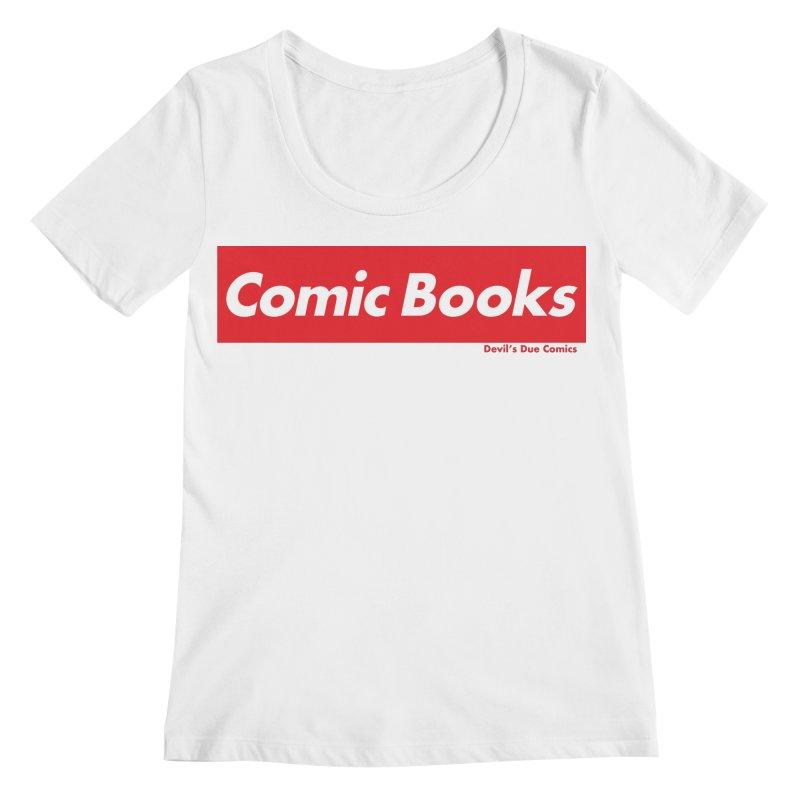Comics Are Supreme Women's Regular Scoop Neck by Devil's Due Comics