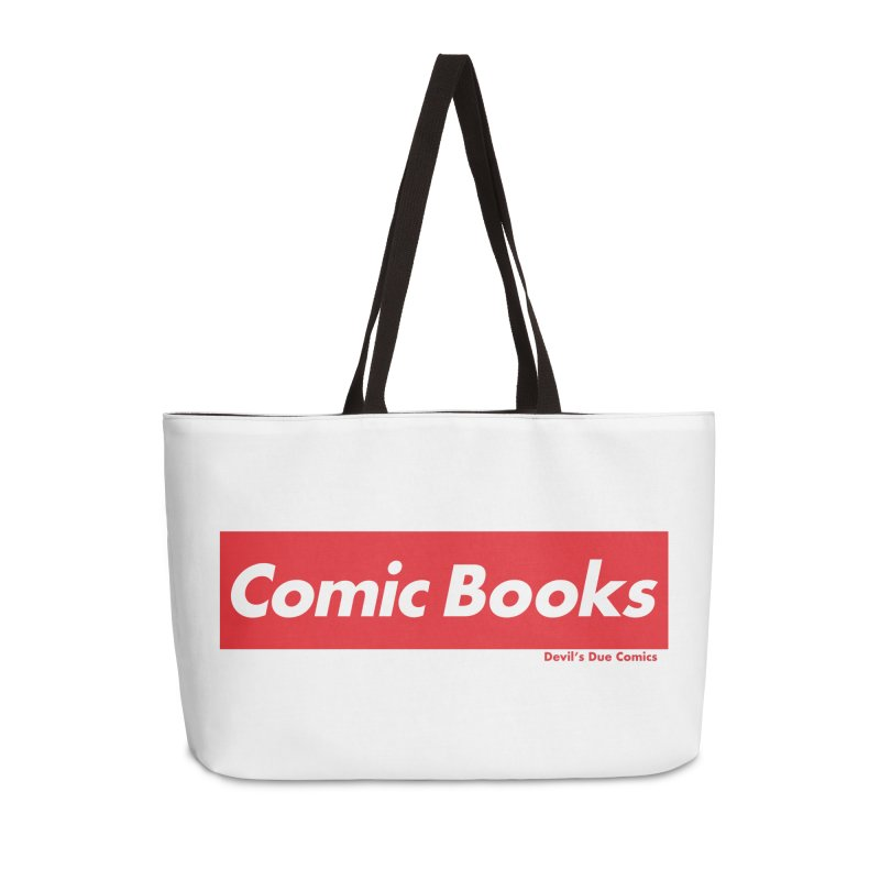 Comics Are Supreme Accessories Weekender Bag Bag by Devil's Due Comics
