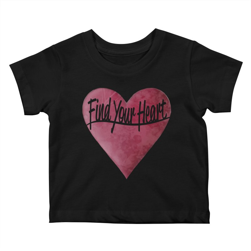 Find Your Heart Kids Baby T-Shirt by Demeter Designs Artist Shop