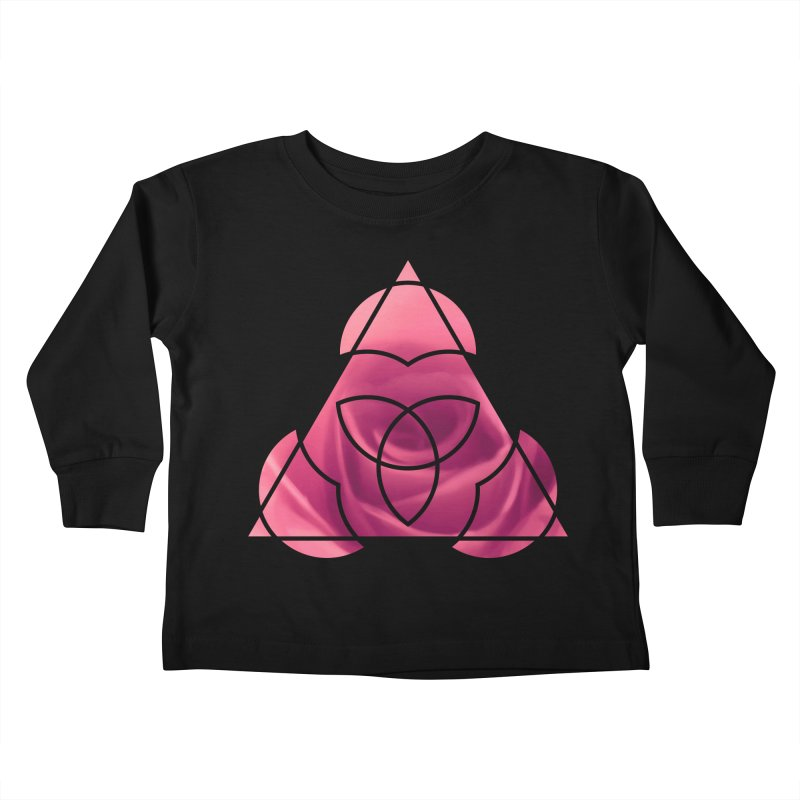 Pretty Pointed Kids Toddler Longsleeve T-Shirt by Demeter Designs Artist Shop