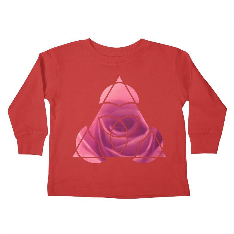 Pretty Pointed Kids Toddler Longsleeve T-Shirt by Demeter Designs Artist Shop