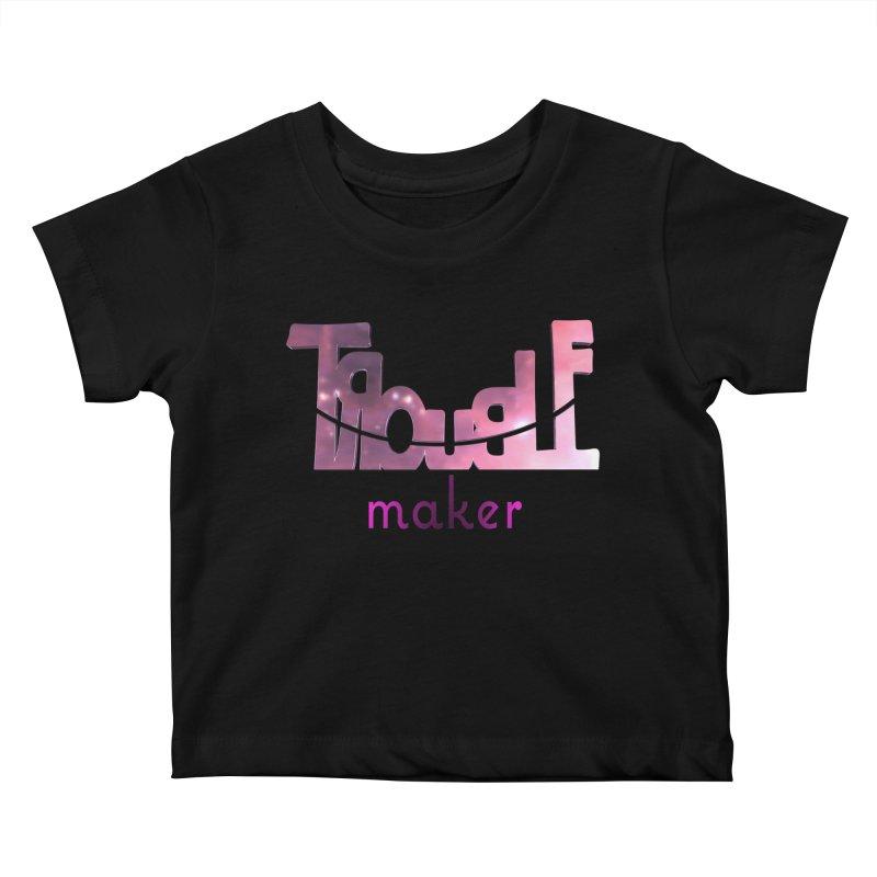 Making Trouble Kids Baby T-Shirt by Demeter Designs Artist Shop
